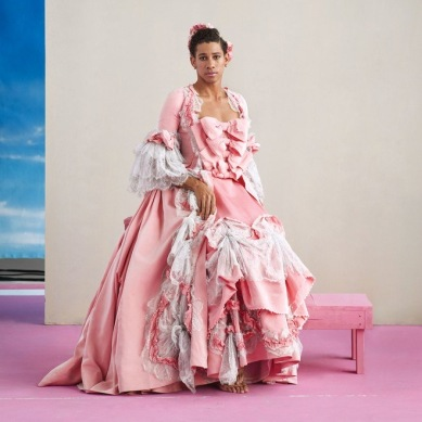 keiynan lonsdale in a puffy pink dress