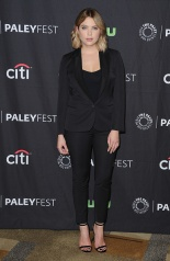 ashley benson in a black suit