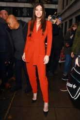 Mandatory Credit: Photo by Beretta/Sims/REX/Shutterstock (10014155r) Hailee Steinfeld at BBC Radio 2 studios Hailee Steinfeld out and about, London, UK - 05 Dec 2018