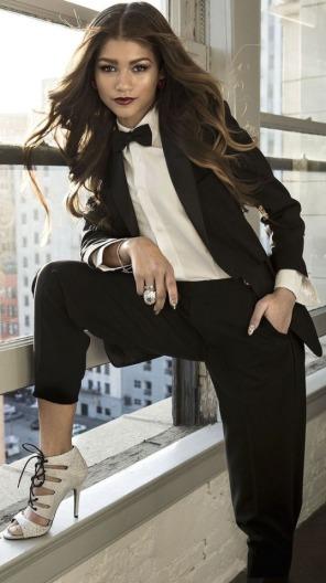 zendaya in a tuxedo